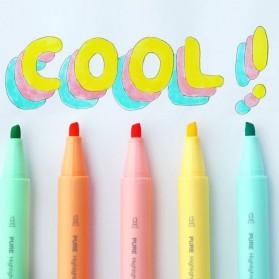 KACO PURE H Plastic Highlighter I Spidol Stabilo Marker Liner 5 PCS - K1045 (Colorful Ink) - Mix Color - 7
