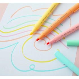 KACO PURE H Plastic Highlighter I Spidol Stabilo Marker Liner 5 PCS - K1045 (Colorful Ink) - Mix Color - 12