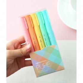KACO PURE H Plastic Highlighter I Spidol Stabilo Marker Liner 5 PCS - K1045 (Colorful Ink) - Mix Color - 13
