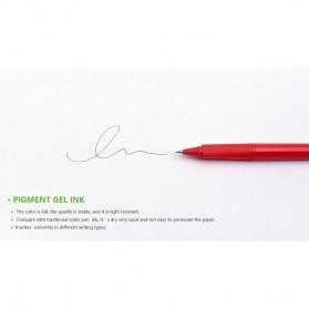 KACO SKY Rollerball Gel Pen Pena Pulpen Bolpoin 0.5mm 1 PCS (Black Ink) - Black - 11