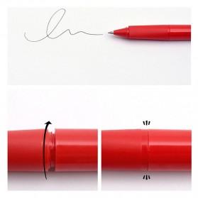KACO SKY Rollerball Gel Pen Pena Pulpen Bolpoin 0.5mm 1 PCS (Black Ink) - Black - 8