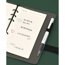 KACO EASY 4 in 1 Multifunction Gel Pen Pena Pulpen Bolpoin 0.5mm 1 PCS - K1041 (Black Blue Red Green Ink) - White - 11