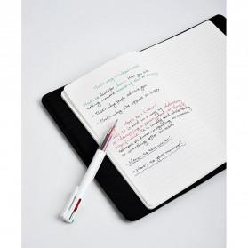 KACO EASY 4 in 1 Multifunction Gel Pen Pena Pulpen Bolpoin 0.5mm 1 PCS - K1041 (Black Blue Red Green Ink) - White - 12