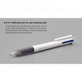 KACO EASY 4 in 1 Multifunction Gel Pen Pena Pulpen Bolpoin 0.5mm 1 PCS - K1041 (Black Blue Red Green Ink) - White - 13