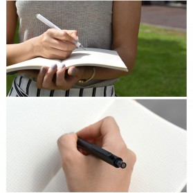 KACO ROCKET Gel Pen Pena Pulpen Bolpoin 0.5mm 10 PCS - K1028 (Black / Blue Ink) - Black - 2