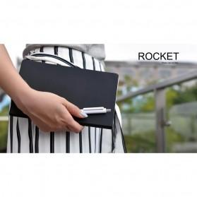 KACO ROCKET Gel Pen Pena Pulpen Bolpoin 0.5mm 10 PCS - K1028 (Black / Blue Ink) - Black - 8