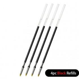 KACO Refill Tinta Hitam Pulpen Gel Multifunction Pen 0.5mm 4 PCS - K1602 - Black
