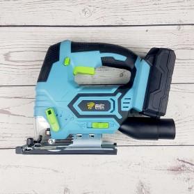 RANOU Gergaji Elektrik Wireless Jig Saw Wood Cutting 20V - 9018001 - Black/Blue
