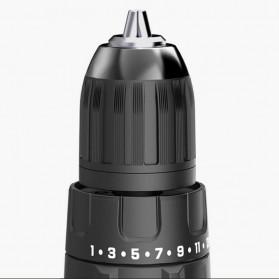 Gidly Wireless Electric Cordless Power Drill Bor Listrik 20V - 2020009 - Black/Blue - 4