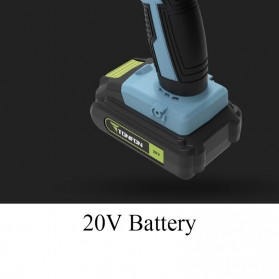 Gidly Wireless Electric Cordless Power Drill Bor Listrik 20V - 2020009 - Black/Blue - 8