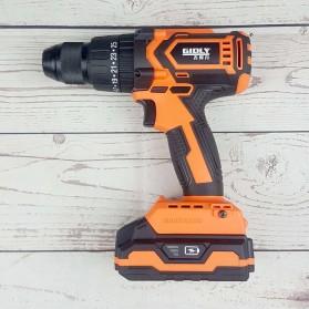 Gidly Wireless Electric Cordless Power Drill Bor Listrik 20V - 2020009 - Black/Orange