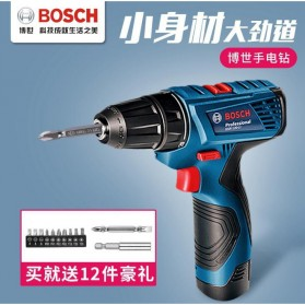 BOSCH Bor Listrik Power Drill Lithium-ion Cordless - GSR 120-LI - Black/Blue - 2