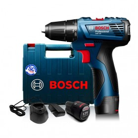 BOSCH Bor Listrik Power Drill Lithium-ion Cordless - GSR 120-LI - Black/Blue - 6