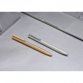 Xiaomi Mi Jia Metal Signature Pen Pulpen (Original) - Golden - 7