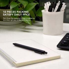 Xiaomi Mijia Kacogreen Signing Gel Ink Pen Pena Pulpen Hitam 10 PCS - Black - 7