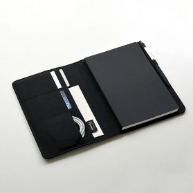 Xiaomi Mijia Kaco Green Noble Paper NoteBook Card Slot Wallet A5 - K1214 - Gray - 3