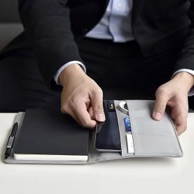 Xiaomi Mijia Kaco Green Noble Paper NoteBook Card Slot Wallet A5 - K1214 - Gray - 4
