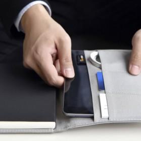 Xiaomi Mijia Kaco Green Noble Paper NoteBook Card Slot Wallet A5 - K1214 - Gray - 6