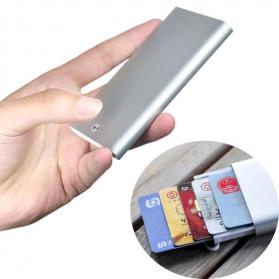 Xiaomi MIIIW Dompet Kartu Premium Card Case Automatic Aluminium - MWCH01 - Silver - 1