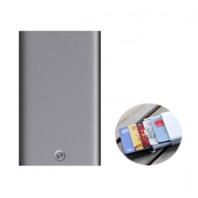 Trend Fashion Pria Terbaru - Xiaomi MIIIW Dompet Kartu Premium Card Case Automatic Aluminium - MWCH01 - Black