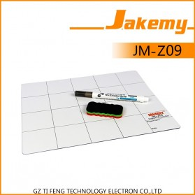 Jakemy Magnetic Work Mat Pad with Erasable Marking Pen & Brush - JM-Z09