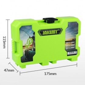 Jakemy Fishing Accessories Tool Kit with Storage Box + Fishing Pliers + Tied Hook Device - JM-PJ5002 - Green - 5