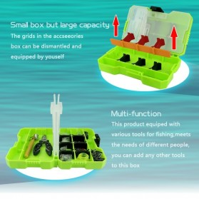 Jakemy Fishing Accessories Tool Kit with Storage Box + Fishing Pliers + Tied Hook Device - JM-PJ5002 - Green - 6