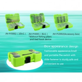 Jakemy Fishing Accessories Tool Kit with Storage Box + Fishing Pliers + Tied Hook Device - JM-PJ5002 - Green - 7