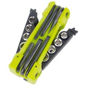 Perlengkapan EDC & Survival - Jakemy JM-PJ1004 17 in 1 Multifunction Folding Screwdriver Kit - Green