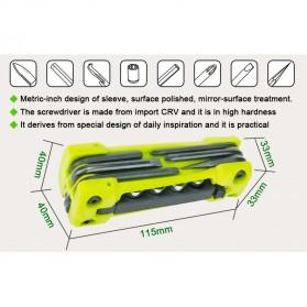 Jakemy JM-PJ1004 17 in 1 Multifunction Folding Screwdriver Kit - Green - 2