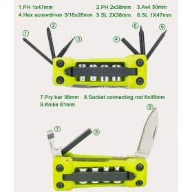 Jakemy JM-PJ1004 17 in 1 Multifunction Folding Screwdriver Kit - Green - 3