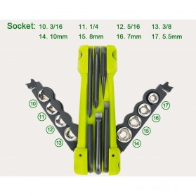 Jakemy JM-PJ1004 17 in 1 Multifunction Folding Screwdriver Kit - Green - 4