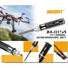 Jakemy 6 in 1 Screwdriver Kit Model - JM-8154 - Black - 2