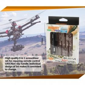 Jakemy 6 in 1 Screwdriver Kit Model - JM-8154 - Black - 7