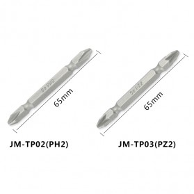 Jakemy 10 Double Head Bits PZ2 65mm - JM-TP03 - 2