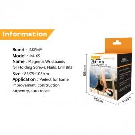 Jakemy Gelang Magnetic - JM-X5 - Black - 6