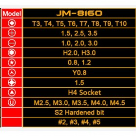 Jakemy 33 in 1 Obeng Set - JM-8160 - 2