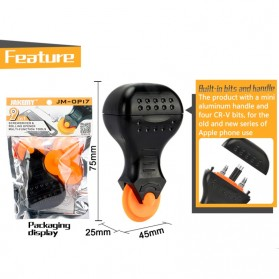 Jakemy Alat Reparasi Smartphone Roller Opener - JM-OP17 - Black/Orange - 3