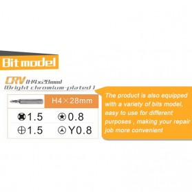 Jakemy Alat Reparasi Smartphone Roller Opener - JM-OP17 - Black/Orange - 4