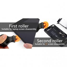 Jakemy Alat Reparasi Smartphone Roller Opener - JM-OP17 - Black/Orange - 6