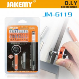 Jakemy 19 in 1 Obeng Set Fleksibel - JM-6119 - Black/Orange