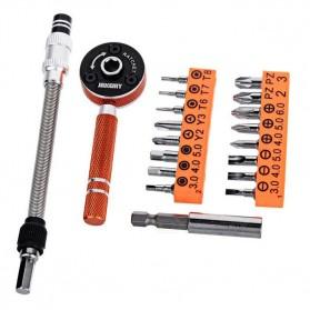 Jakemy 19 in 1 Obeng Set Fleksibel - JM-6119 - Black/Orange - 2