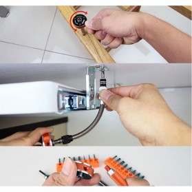 Jakemy 19 in 1 Obeng Set Fleksibel - JM-6119 - Black/Orange - 6