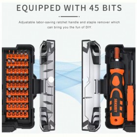Jakemy 48 in 1 Obeng Household Tools Set Electronic Repair - JM-6124 - 2
