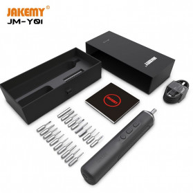 Jakemy 20 in 1 Obeng Elektrik Portable Intelligent Precision Screwdriver Rechargerable - JM-Y01 - Black - 5