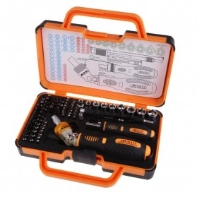 Jakemy 69 in 1 Portable Metal Toolbox and Drop Ratchet Screwdriver Set - JM-6111