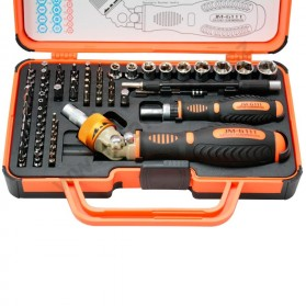 Jakemy 69 in 1 Portable Metal Toolbox and Drop Ratchet Screwdriver Set - JM-6111 - 2