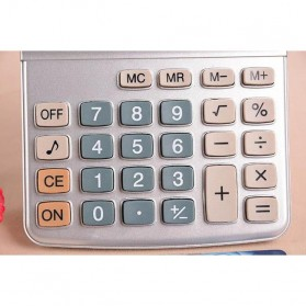 Kenko Kalkulator Elektronik Office Calculator - KK-900A - Black/Silver - 4