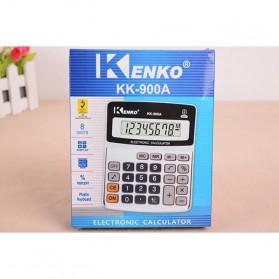 Kenko Kalkulator Elektronik Office Calculator - KK-900A - Black/Silver - 8