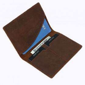 BUBM Dompet Kartu Anti RFID Slim Bahan Kulit - FM-103 - Brown